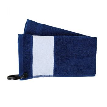 Personalised Deluxe Golf Towel - Navy